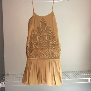 Guess by Marciano Gold Flapper Mini Dress